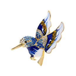 brooches needles Australia - Rhinestone Little Birds Coat Jacket Brooches Women Accessories Female Zircon Collar Needle Pin Buckle Brooch Jewelry Boutonniere