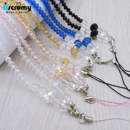 Lanyards For Flash Drive Australia - Ascromy Crystal Shiny Beads Rhinestone Neck Strap Lanyard For Cell Phone Camera USB Flash Drive Keys ID Name Card Women Necklace