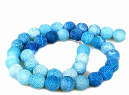 Onyx Stones Jewelry Australia - SKY BLUE 4MM 8mm 6MM 10MM Weathered Agates Natural Stone Beads Frost Onyx Round Loose Beads Necklace Bracelet Earrings DIY Jewelry Making
