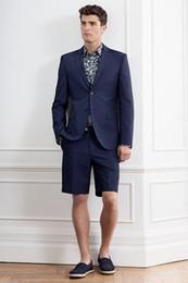 Simple Suit Designs Australia - The Latest Coat Pant Designs Men Suit Short Pant Skinny Beach Outfit Summer Simple Custom Men Tuxedo 2 Piece Mens Suit YM
