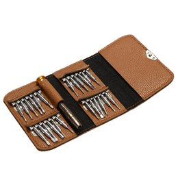 25 Silver Set UK - 25 in 1 Screwdriver Set Opening Repair Tools Kit for iPhone Camera Watch Precision Screwdriver Set Wallet Kit Repair Tool