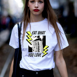 Tops Girl Shirt Design Australia - Tumblr Funny Print T-shirt Women Harajuku White Cotton Casual Women Top&Tees 2019 Summer femme Spoof Design Worship Girl