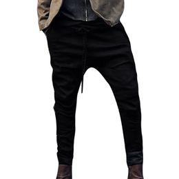 Drawstring Trousers Australia - 2019 Men Plus Size Trousers Jogger Men Pants For Casual Drawstring Full-Length Solid Trousers Loose Sweatpants Pants