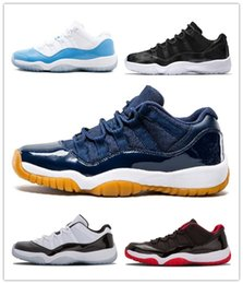 Cotton Cherry Australia - High Quality 11 Low Blue Snakeskin Bred Closing Ceremony Navy Gum Basketball Shoes Men 11s UNC Cherry Varsity Red Emerald Sneakers With Box