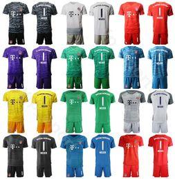 Soccer goalie jerSey online shopping - Goalkeeper GK Goalie Bayern Munchen Oliver Kahn Jersey Men Set Soccer Manuel Neuer Sven Ulreich Football Shirt Kits Uniform