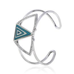 Man Made Diamonds Australia - luxury geometric shape block artificial diamond Bracelet pendant For Women Brand girlfriend boyfriend gift crafts dinner accessories