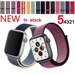 smart watch wholesale Australia - Sport Loop Strap smart watch straps For Apple watch 4 band 42mm 38mm correa 5 4 44mm 40mm Iwatch series 4 straps Watchband