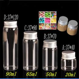 $enCountryForm.capitalKeyWord Australia - 20ml 50ml 65ml 90ml Glass Storage Bottles with Aluminium Cap Empty Gift Bottle Clear Jars Containers 24pcs Free Shipping