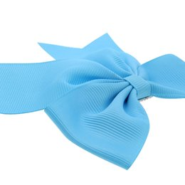 kids character ribbons UK - 1PCS Swallowtail Ribbon Bow Clip Elastic Hair Bands For Girls Bohemian Hairpins Scrunchy Korean Kids Hair Accessories For Women
