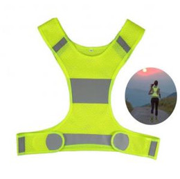 Wholesale Visibility Reflective Vest Outdoor Safety Vests Cycling Vest Working Night Running Sports Outdoor Clothes Running Jackets OOA6080