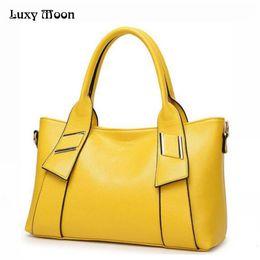 $enCountryForm.capitalKeyWord Australia - Women Leather Handbags Famous Brand Women Shoulder Bags Big Women Messenger Bag Bolsos Mujer Black Red Yellow Blue W805 J190615