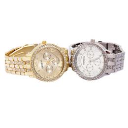 Hot Genebra Relógio De Aço Inoxidável Moda Metal Quartz relógios de pulso para Homens Mulheres Unisex relógios de luxo Genebra Crystal Relógios dhl livre BB