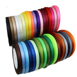 satin fabric rolls Canada - (100 yards roll) Satin Ribbon Wholesale Gift Packing Christmas decoration diy Ribbons roll fabric 10mm