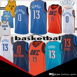 Logo jerseys online shopping - Russell Westbrook jersey Paul George youth top quality Embroidery Logos jerseys new basketball jerseys