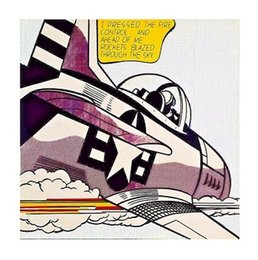 Life Size Art Australia - Roy Lichtenstein Whaam High Quality HandPainted &HD Print Abstract Pop Wall Art Oil Painting On Canvas Home Decor Multi sizes R22