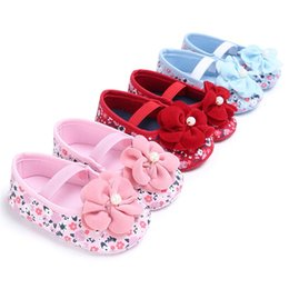 d369c4a6f602a Baby Girls Shoes Fashion Toddler Kids Baby Girls Flower Printed Soft Sole  Anti-slip Shoes Baby First Walkers Shoes M8Y14