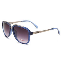 blue box framing UK - new high-end fashion men's and women's uv sunglasses outdoor sports retro glasses with box