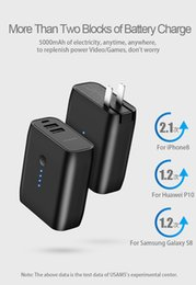 Опт 2 в 1 USB зарядное устройство Power Bank 5000 мАч Автоотключение Быстрая зарядка Powerbank Dual USB Внешняя батарея ЕС / США Складная вилка
