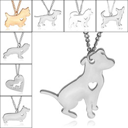 $enCountryForm.capitalKeyWord Australia - Best Friend Heart Dog Pendant Necklace Silver Gold Plated Pet Dog Necklaces for Women Fashion Jewelry Gift