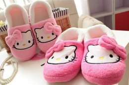 Thin cell phones online shopping - New Hellokitty Women thin light home slippers home Plush shoes KX L9452