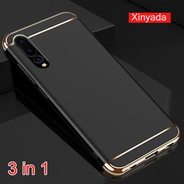 pc protectors NZ - luxury PC hard Bumper Cover For Huawei Mate 20 Lite 10 Pro P20 Case Shell armor 3in1 protector house coque funda
