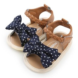 $enCountryForm.capitalKeyWord Australia - baby girls shoes newborn summer new fashion canvas bow PU casual soft first walkers baby toddler shoes