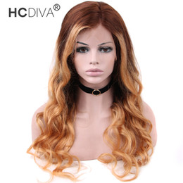 $enCountryForm.capitalKeyWord NZ - Peruvian Body Wave Color Ombre Human Wigs 13*4 Lace Front Wigs Two Tone Color 4 27 Brown Top Honey Blonde End
