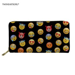 passport accessories Canada - wholesale Funny Emoji Women Wallets PU Wallet Female Card Holder Coin Purse Stylish Accessory Women Wallet Classic Design
