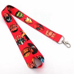 Superhero Keychains Canada - New Mix Style Superhero Avengers League Lanyard NEW Keyring ID Holder Phone Strap Q1
