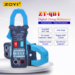$enCountryForm.capitalKeyWord Australia - ZOYI digital Clamp multimeter ZT-QB1 4000 count True RMS Clamp meter AC DC voltmeter AC Ammeter Resistance Frequency tester