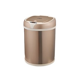 Steel Induction Canada - Automatic trash can contactless intelligent sensor trash can with inner barrel non-contact circulator quiet cover creative automatic