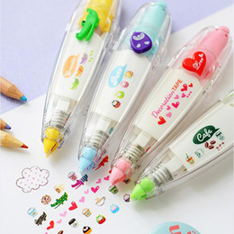 Discount diy stationery - 2019 Kawaii Cute Correction Tape Creatively Stationery Pressed Lace DIY Diary Decorated Student kid Prize Gift Office Sc