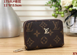 Pvc Long Zipper NZ - Free post 19 new classic retro zipper small purse card bag men and women card holder credit card package tide