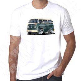 $enCountryForm.capitalKeyWord Australia - WickedArtz Cartoon Green T2 Bay Campervan Mens 100% Cotton White T-shirt Men's Cool Funny Tops Round Neck Tees 2018 New Brand
