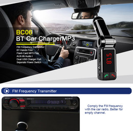 Car Mp3 Mp4 Player Bluetooth Australia - QiChen BC06 Bluetooth Car Charger BT Portable Car Transmitter Support MP3 MP4 Player AUX FM Mini Dual Port For Universal Smart Phone