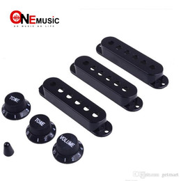 black guitar volume knobs Australia - Black Guitar Single Coil Pickup Cover with 1 volume 2 Tone Knobs Switch Tip