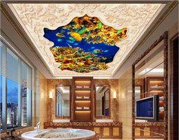 Marines Housing Australia - WDBH 3d ceiling mural wallpaper custom photo Marine coral sea turtle algae living room home decor 3d wall murals wallpaper for walls 3 d