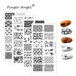 Cartoon Stamping Australia - Finger Angel 1PCS Halloween Design Nail Stamping Plates Stamp Image Unique Funny Cartoon Skull 6*12cm DIY Nail Art Template