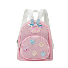 cute mini backpacks wholesale Canada - NEW infant toddler baby girl backpack cute bow waterproof PVC sequin mini backpack school bag