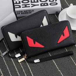 credit card portefeuille UK - Hengsheng Brand Fashion Long Eyes Anime Men Leather Wallets Purses Carteira Masculina Couro Portefeuille Homme l30
