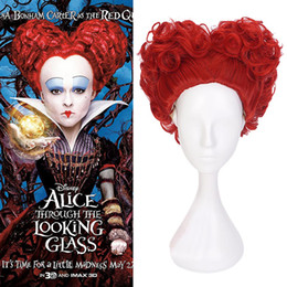 $enCountryForm.capitalKeyWord NZ - Adult Deluxe Red Queen Wig Hearts of Queen Cosplay Red Curly Bob Short Hair Fancy Dress Party Wig Halloween Accessories