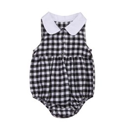 $enCountryForm.capitalKeyWord UK - Toddler Baby Girls Check Plaids Romper Peter Pan Collar Jumpsuit Clothes Sunsuit