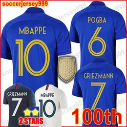 0f05339c66f18 France soccer jersey football shirt Camiseta de fútbol de Francia 2019 100  aniversario 100 años 2 estrellas chandal de fútbol del equipo de la Copa  del ...