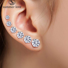 1da5f58a4 3mm earrings online shopping - New Arrival mm mm Clear Cubic Zirconia Stud  Earring For Women