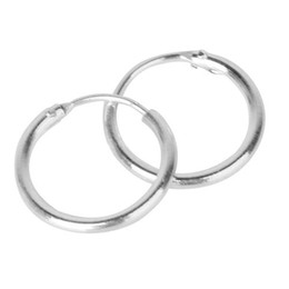 Discount lips ring women - Hot Fashion Women 1Pair Unisex Silver Plated Earrings Circle Hoop Rings Lip Nose Ear Studs Piercing Hot 3 Sizes New