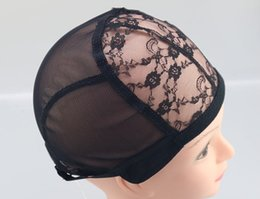 $enCountryForm.capitalKeyWord Australia - Wig Caps Top For Making Wigs adjustable straps back swiss lace full front lace wig cap wig weave net hair extensions