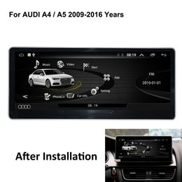 Gps For Audi NZ - COIKA Android 6.0 System 2+32G RAM Car DVD GPS Receiver For Audi A4 A5 2009-2016 IPS Mirror Screen Google Carplay WIFI BT SWC DVR