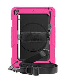 Nexus tab case online shopping - for iPad ipad9 air pro PRO10 pro mini T510 T387 T580 T590 Hybrid Shockproof Holder apple pencil Shoulder strap