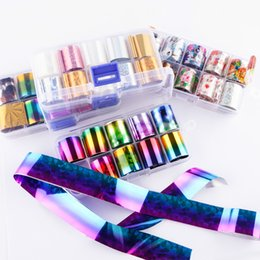 Wholesale Holographic Nail Foil Colorful Transfer Stickers Starry Decals Sliders for Nail Art Decoration Tips Manicure Tools
