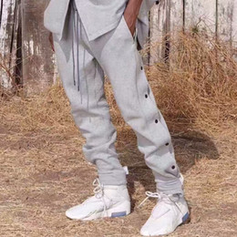 $enCountryForm.capitalKeyWord Australia - Fear Of God Sweatpants Buttons Side Drawstring Jersey Track Pants Men Women Jogging Basketball Trousers Fashion Jogger Pants MQI0309